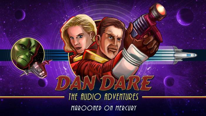 "New art for the Dan Dare Audio Adventure ""Marooned on Mercury"", created to coincide with the Radio 4 Extra release. Designed by Mark Plastow with art by Brian Williamson."
