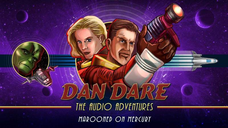 """New art for the Dan Dare Audio Adventure """"Marooned on Mercury"""", created to coincide with the Radio 4 Extra release. Designed by Mark Plastow with art by Brian Williamson."""