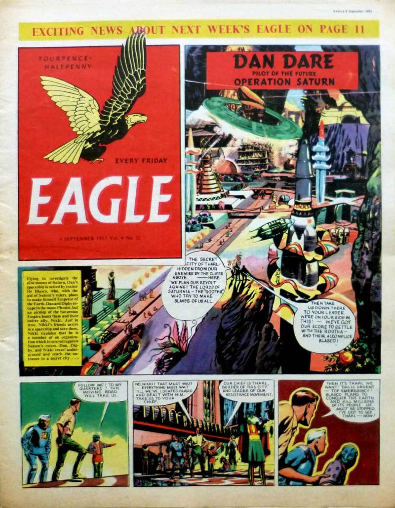 Tharl's Secret City,as revealed in seen in Eagle Volume 4, No 22