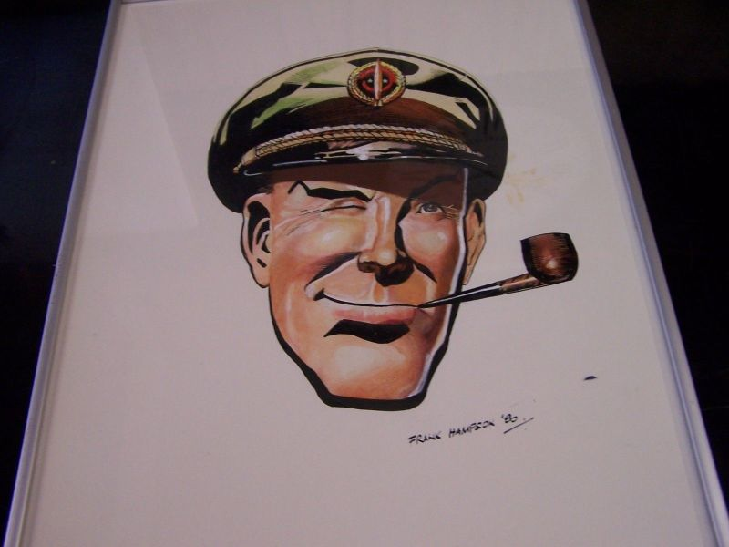 Dan Dare by Frank Hampson - Watercolour