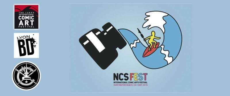 NCSFest 2019 Postcard. Art by Luke McGarry