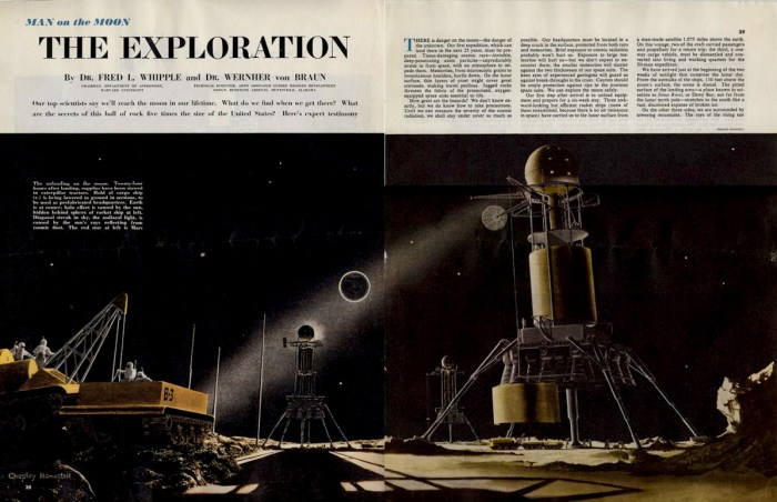 Man on the Moon - a magazine article by Dr Fred L. Whipple and Dr Wernher von Braun