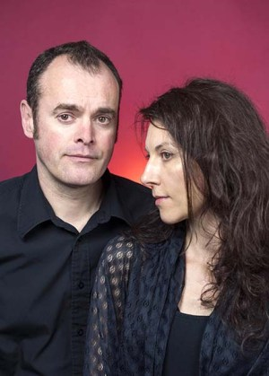 Photo of Metaphrog, aka John Chalmers and Sandra Marrs, by Bob McDevitt