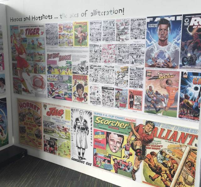 Playing for a Draw - National Football Museum Exhibition 2018 - Football Comics