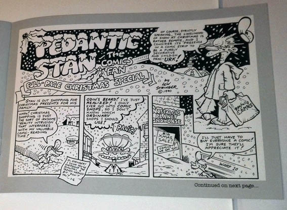 Pedantic Stan, The Comics Fan by John Freeman and Lew Stringer - Christmas Special