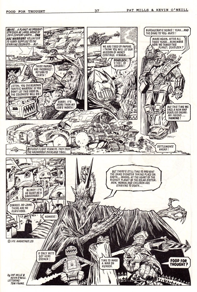 Food for Thought - strip by Pat Mills & Kevin O'Neill