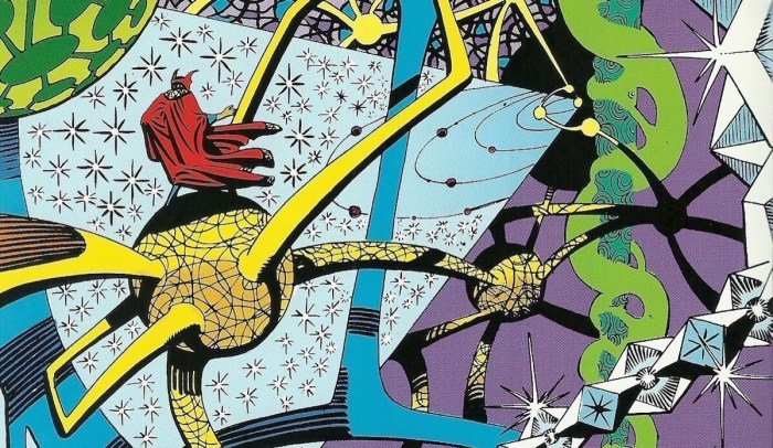 Just one of many mind-bending comic visuals Steve Ditko created during his long career