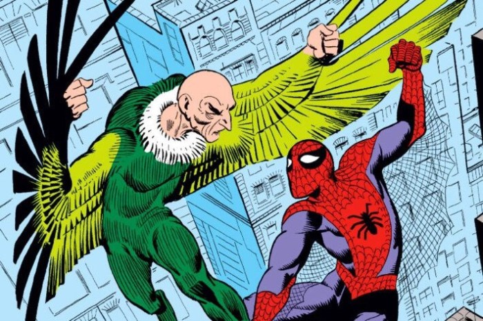 Spider-Man battles the Vulture in The Amazing Spider-Man #2. Art by Steve Ditko