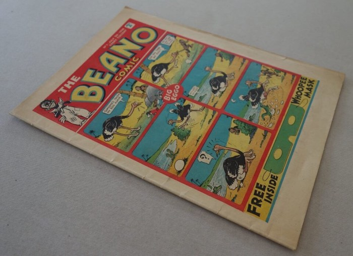 Beano Number One - cover dated 30th July 1938 (Phil Comics copy, 2018 auction item)