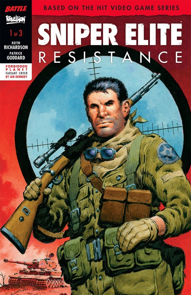 Sniper Elite Resistance #1 Cover - Forbidden Planet Variant