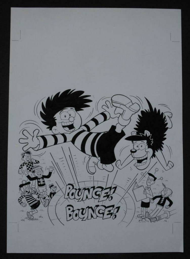 Beano Book art by Jimmy Hansen