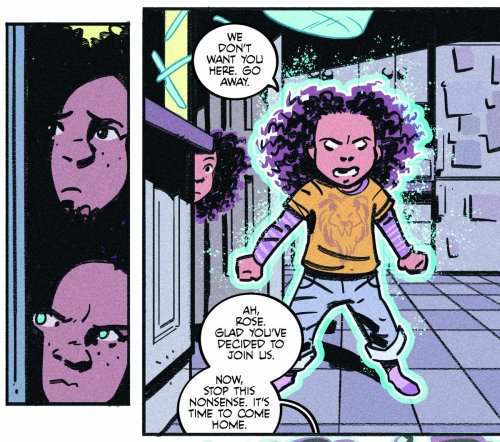 """Art from """"Human Child"""" from the artist/letterer team of Laurie Penny, Gavin Mitchell and Hassan Otsmane-Elhaou"""