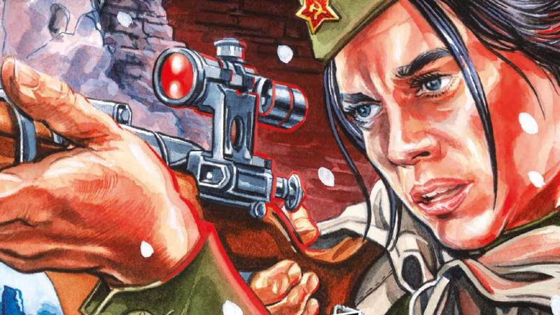 "Graeme Neil Reid joins the distinguished league of Commando cover artists for ""The Red Devil"" sniper adventure"