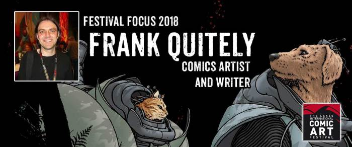 Lakes Festival Focus 2018 - Frank Quitely. Image in ident of Frank Quitely Luigi Novi/ Creative Commons Usage