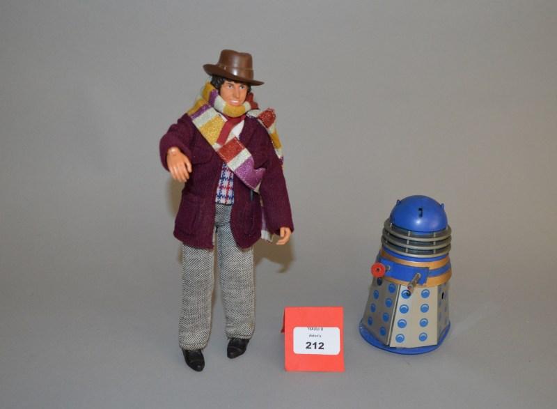 Mego Doctor Who Action Figure and Codeg mechanical Dalek