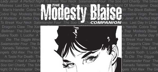 Book Palace announces updated, limited edition Modesty Blaise Companion