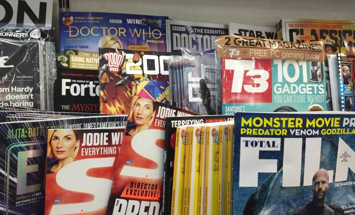2000AD and Judge Dredd Megazine - sadly fighting for space in WHSmith in the specialist magazine section of the store