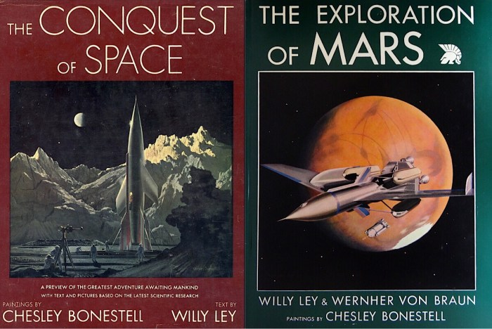 Books illustrated by Chesley Bonestell