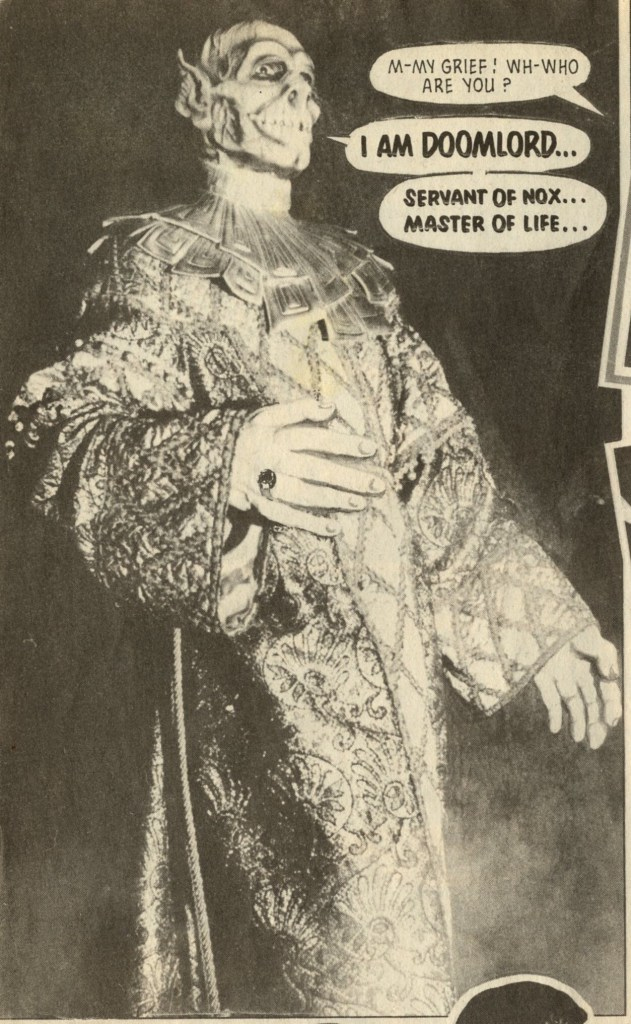 The first appearance of Doomlord, in the 1980s Eagle