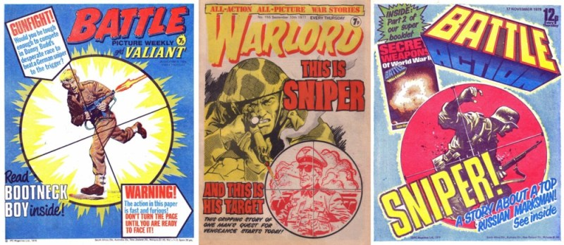 "Three inspirational British war comics of yesteryear that prompted the look of Graeme Neil Reid's ""Red Devil"" Commando cover"
