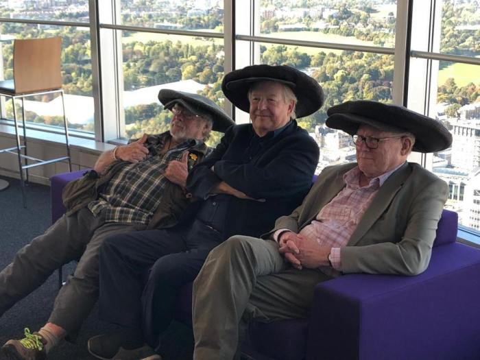 The Goodies Live Q&A session from Post Office Tower. Image via The Goodies Facebook Page