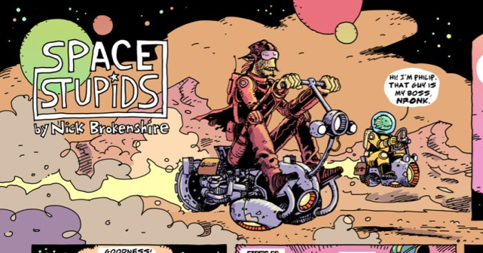 Space Stupids by Nick Brokenshire, for GOOF! #1
