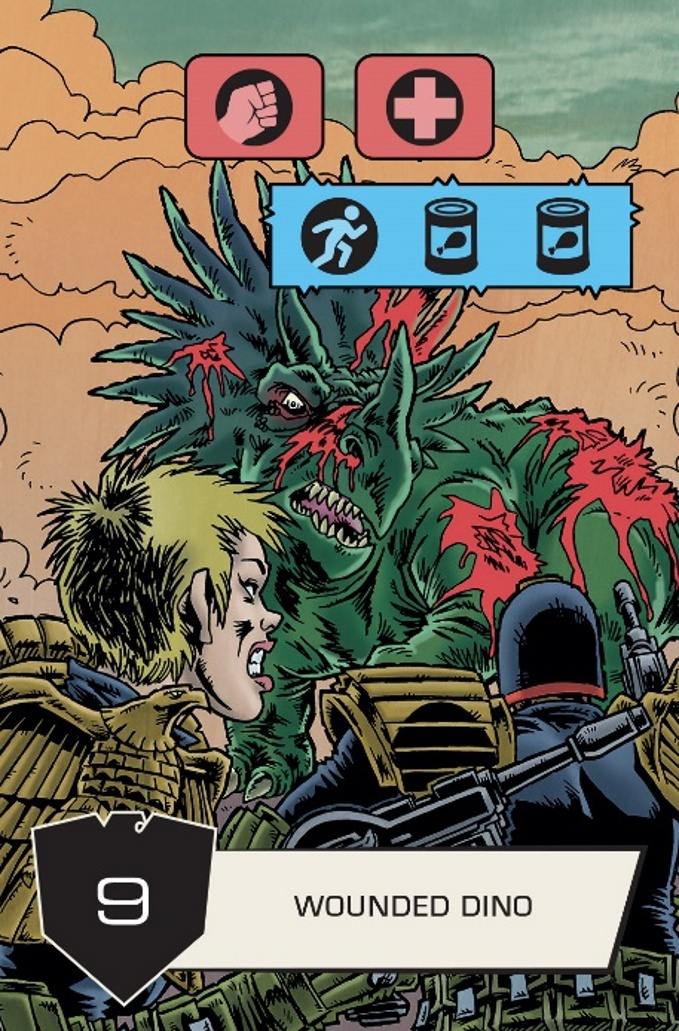 Judge Dredd: The Cursed Earth - Wounded Dino