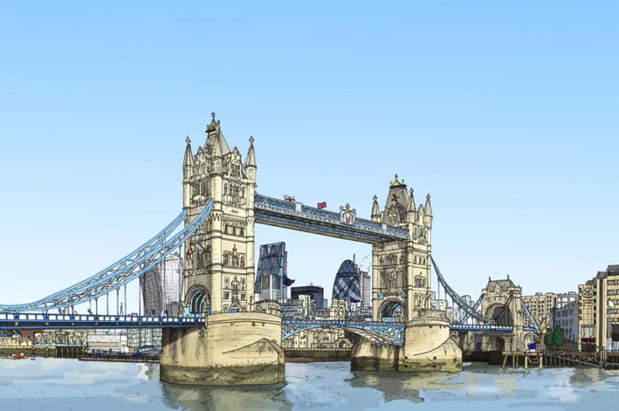 London's Tower Bridge by Zoom Rockman