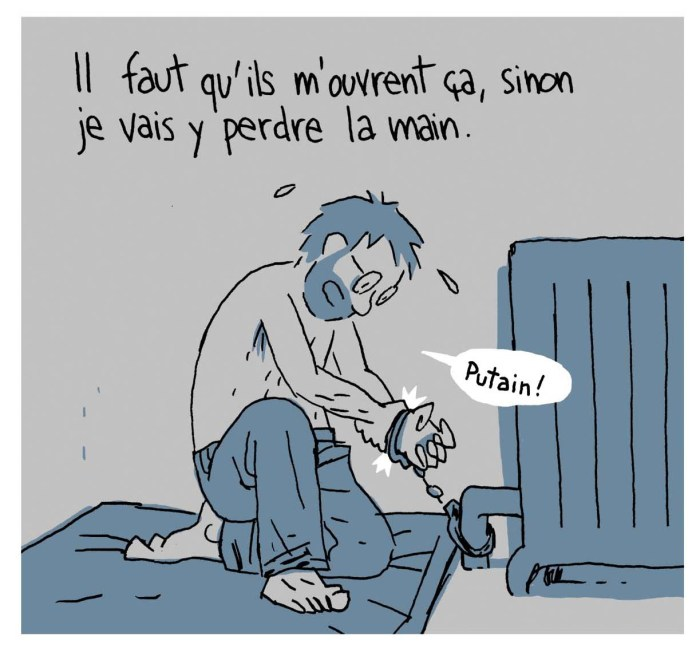 """Art from """"Hostage"""" by Guy Delisle"""