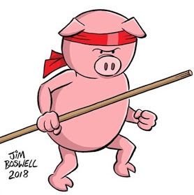 Jim Boswell's Stick Pig!  That got your attention didn't, pig pals? it, pig pals?