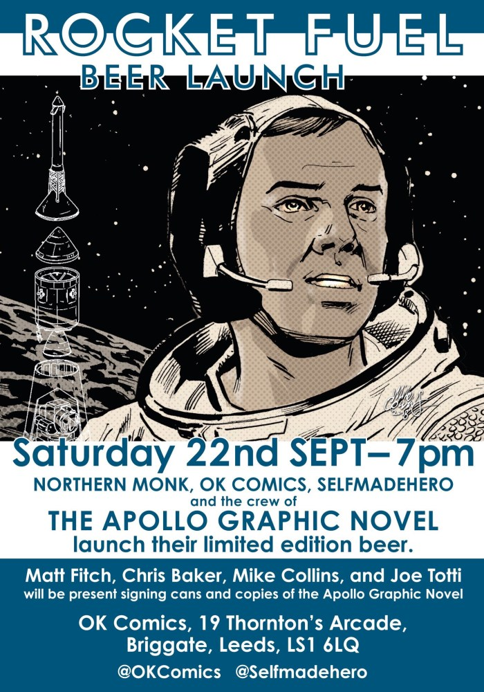 OK Comics Rocket Fule Beer Launch (Apollo Graphic Novel)
