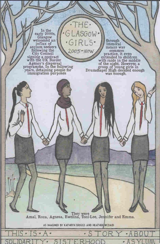 """The Glasgow Girls"" by Kathryn Briggs and Heather McDaid, from the We Shall Fight Until We Win anthology, published BHP Comics/404 Ink"