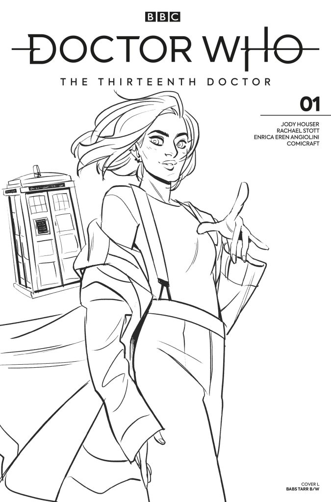 Doctor Who - The Thirteenth Doctor #1 Cover L Babs Tarr Black and White