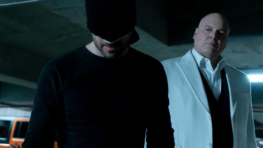 ea93152d765 Daredevil (Charlie Cox) and Wilson Fisk aka Kingpin ( Vincent D Onofrio)