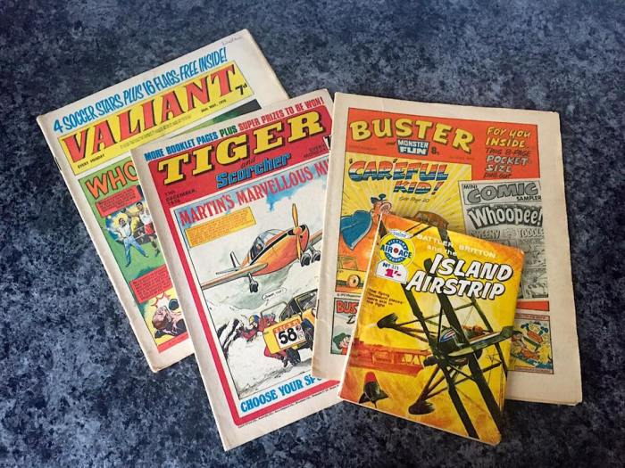 Some of the Fleetway titles owned by 2000AD publisher, Rebellion