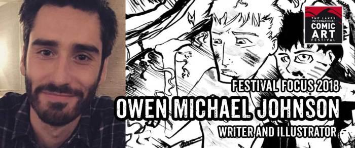 Lakes Festival Focus 2018: Writer and Illustrator Owen Michael Johnson