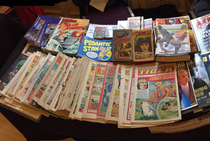 What I did have on sale prompted lots of memories of British comics of old, and Comic Scene sold well