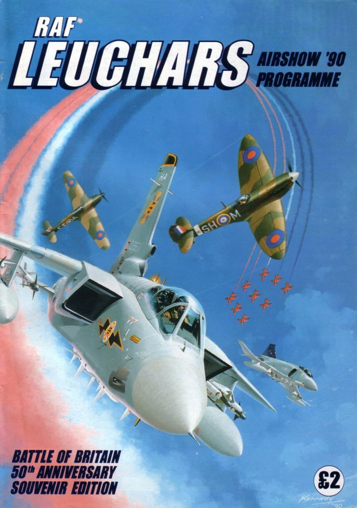 Ian Kennedy's cover for the 1990 RAF Leuchars Programme