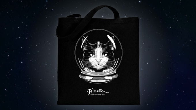 Félicette - The First Cat in Space Tote Bag