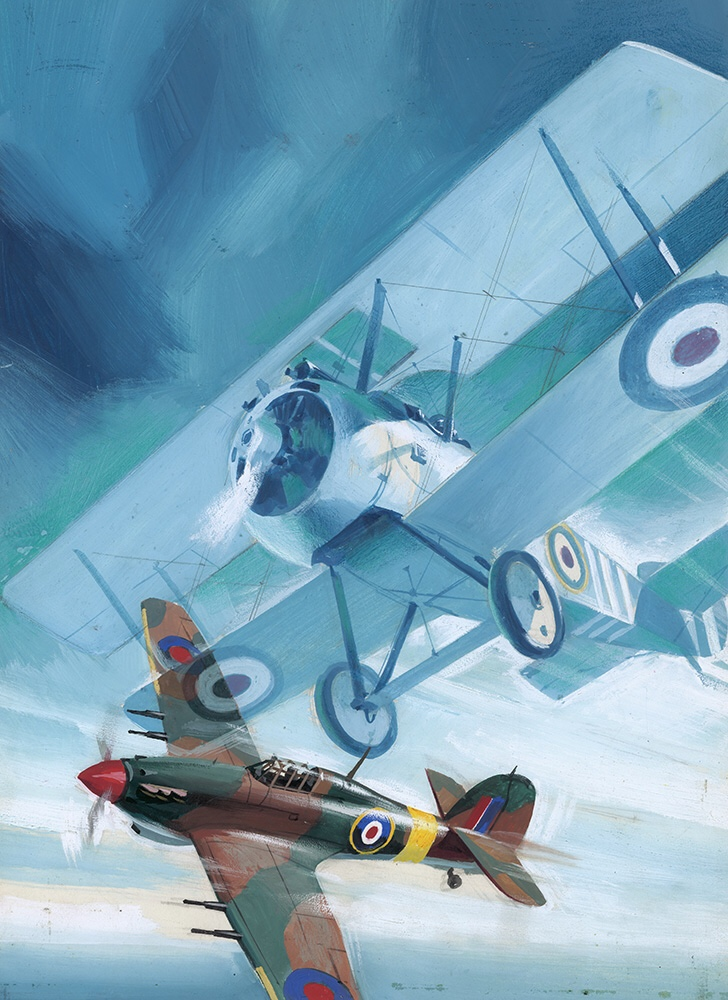 Air Ace Picture Library cover #52 'Ghost Plane' (Original) by Pino Dell'Orco