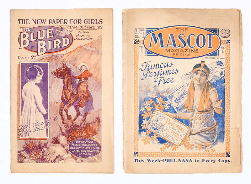 Blue Bird 1 (1922), Mascot 1 (1921) - first issue girls' comics published by DC Thomson