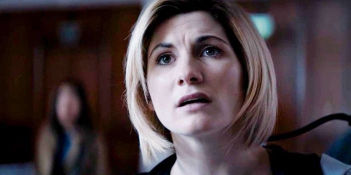 The Doctor (Jodie Whittaker) in Arachnids in the UK. Image © BBC/BBC Studios