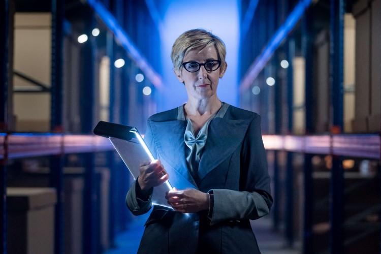 Julie Hesmondhalgh as Judy Maddox in Doctor Who - Kerblam! Image: BBC/BBC Studios