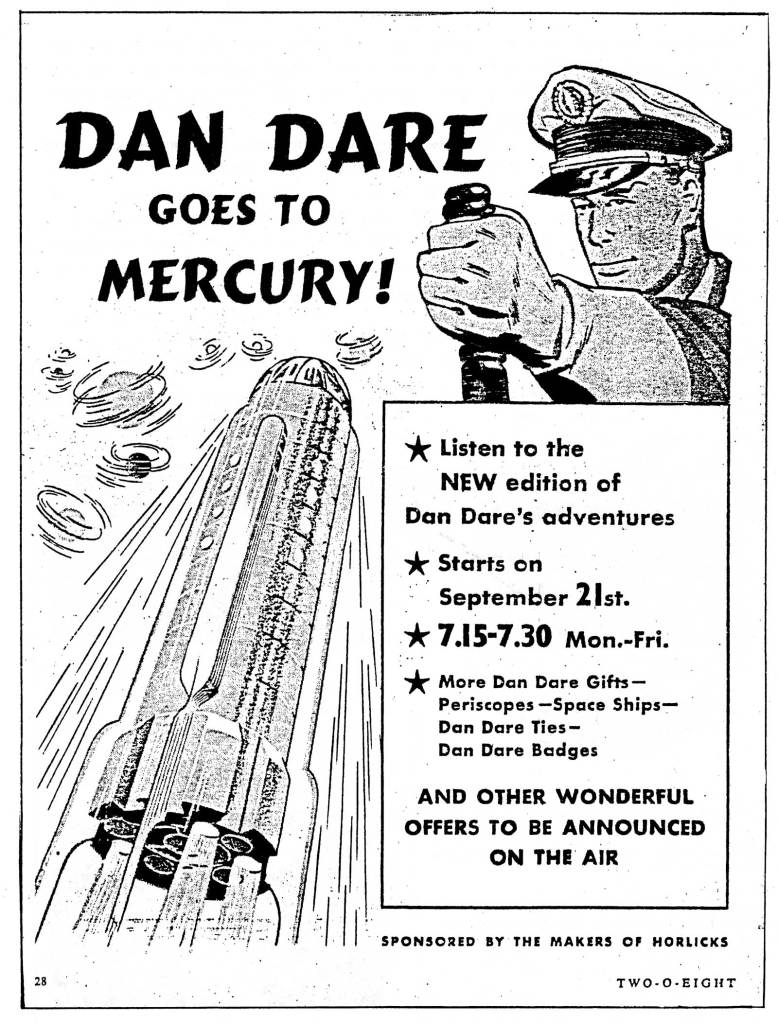 The Adventures of Dan Dare - 208 Magazine Advertisement