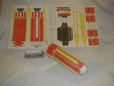A reproduction of the Horlicks Dan Dare Spaceship Cut-out made for Museum Display. Via eBay