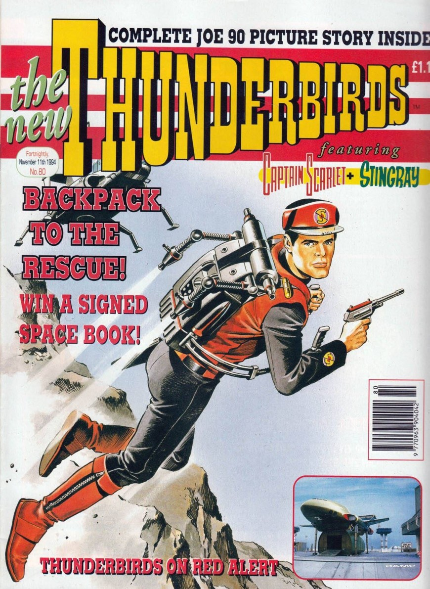 Thunderbirds Comic 80 - cover dated 11th January 1994. Art by Mike Noble