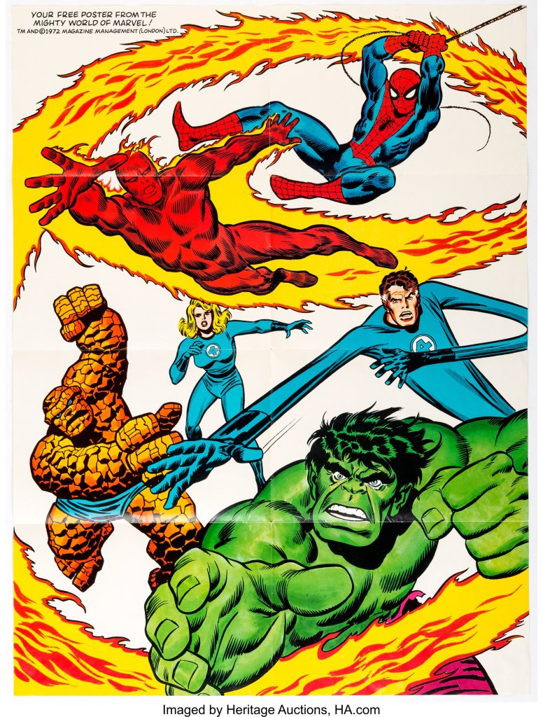 Mighty World of Marvel poster by John Buscema