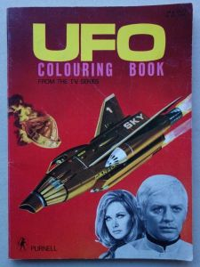 UFO Colouring Book (1971), published by Purnell