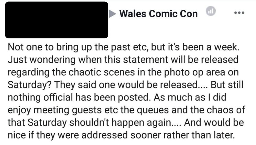 Wales Comic Con 2018 - Social Media Comment
