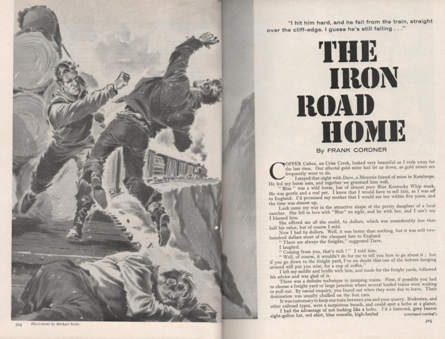 "Wide World June 1962 p304-305, ""The Iron Road Home"" by Frank Cordner"